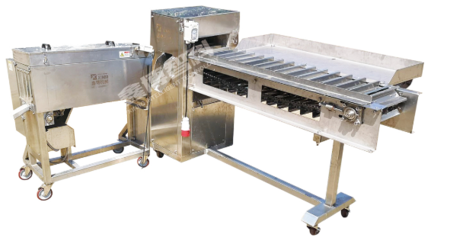 XBF-838 Fish automatic head-removing and main bone-removing unit(getting two pieces of fillets)